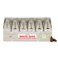 [Backflow] Satya White Sage Backflow Cones (Box of 6 Packs)