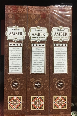 Goloka - Amber - Masala Incense 15g (12 Packs/Box)