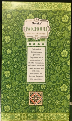 Goloka - Patchouli - Masala Incense 15g (12 Packs/Box)