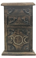 Almirah Wooden Triple Moon Cupboard