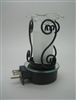 Plug In Oil Warmer - 3 Curved Metal Design with Frosted Glass Aroma Lamp