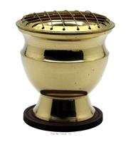 "Brass Screen Charcoal Burner 3""H"