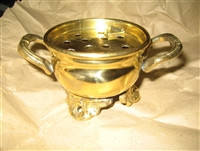 "Brass Cauldron Burner (3.5 X 2"") two holder design"