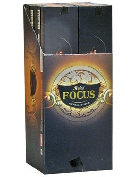 Balaji Focus Incense Sticks - 15 Gram (12/Box)