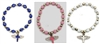Wings Cross Bracelet - Cross Engraved Beads (DOZEN)