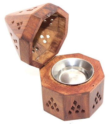 Wood Temple Charcoal/Cone Burner