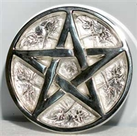 Brass Pentagram, Silver Plated