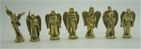 Set of 7 - Seven Archangel Figurines Bronze 2""