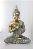 Golden Buddha crossed arms statue - Model 4040