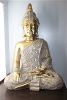 Golden Buddha one hand on knee LARGE Model - 6448