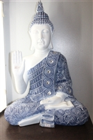 White and Blue Buddha Palm out Model-6639