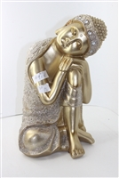 Golden Buddah head on knee Model-9148