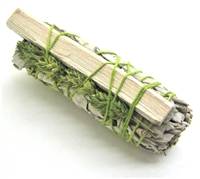"MIX - White Sage with Green Phalaris and Palo Lentisco Smudge Sticks 4"" (Single)"