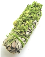 "MIX - White Sage with Green Mullein Smudge Sticks 4"" (Single)"