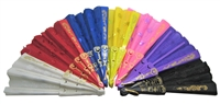 Chinese Folding Hand Fans (pack of 12)