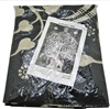 Elephant Tree Tapestry, White and black