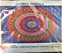 Badmeri Mandala (Multiple different colors in ovals) (Double) (210 cm x 240 cm)