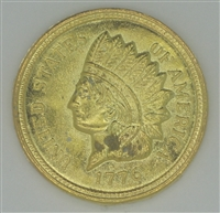 Golden Coin with Indian Head - Amulet