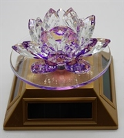 Solar Powered Crystal Lotus Flower - Select Color