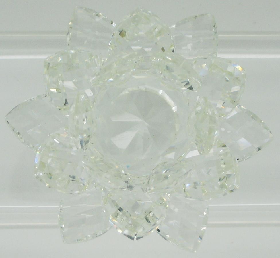 Crystal Lotus Flower 30 Mm Light Colors