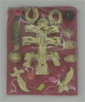 Cruz de Caravaca with Side Amulets (Dozen)
