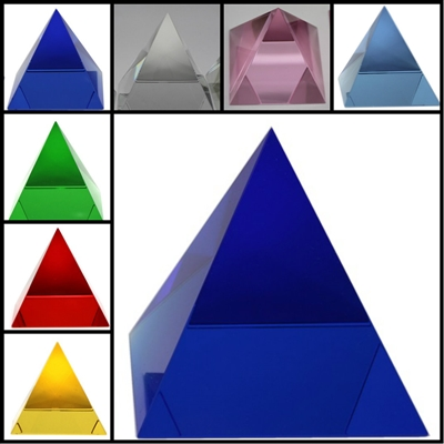 Crystal Pyramid 80mm (Glass) - Select Color