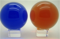 Crystal Ball with Base 80mm - Select Color