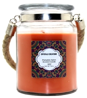Crystalo Creations Pumpkin Spice Scented Candle with Rope Handle, 18 Ounce