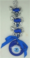 Three Horse Evil Eye Amulet