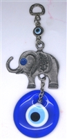 Elephant Evil Eye Amulet - Hanging