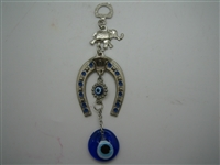 Small Horseshoe Evil Eye Amulet - Hanging