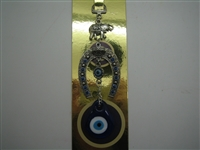 Small Decorated Horseshoe Evil Eye Amulet - Hanging
