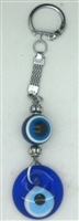 Evil Eye Key Chain with Two Eyes - 5.5''