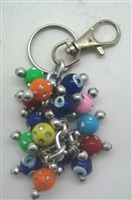 Plastic Multicolor Evil Eye Key Chain - 3''