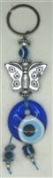 Butterfly Evil Eye Key Chain - 6''
