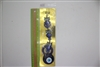 "Evil Eye triple owl Pendant/Charm 10"" Model EE0012"