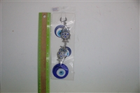 "Evil Eye double owl Pendant/Charm 9"" Model EE0014"