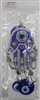 "Evil Eye hamsa Pendant/Charm 7"" blue Model EE0030"