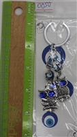 "Evil Eye double owl Pendant/Charm 5.5"" Model EE0050"