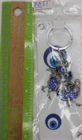 "Evil Eye double rooster Pendant/Charm 4"" Model EE0051"
