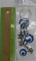 "Evil Eye 3 monkeys Pendant/Charm 4"" Model EE0057"