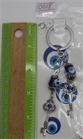 "Evil Eye 2 keys Pendant/Charm 4"" Model EE0058"