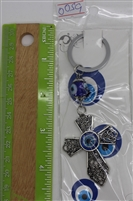 "Evil Eye cross Pendant/Charm 4"" Model EE0059"