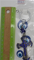 "Evil Eye 2 cross different version Pendant/Charm 5"" Model EE0061"