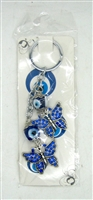 "Evil Eye double butterflies Pendant/Charm 5"" Model EE0064"