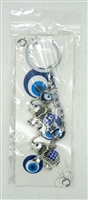 "Evil Eye double elephant Pendant/Charm 5"" Model EE0065"