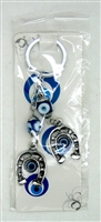 "Evil Eye double 1"" horseshoes Pendant/Charm 5"" Model EE0066"