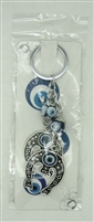 "Evil Eye double 1.25"" horseshoes Pendant/Charm 5"" Model EE0067"