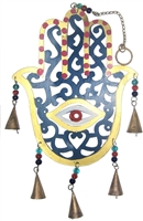 Fatima Hand wrought Iron hanging (painted Hamsa)