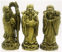 The Three Wise Men Chinese Fauk Luk Sau (Separated) - 4''